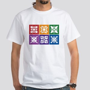Hawaiian Quilt White T-Shirt
